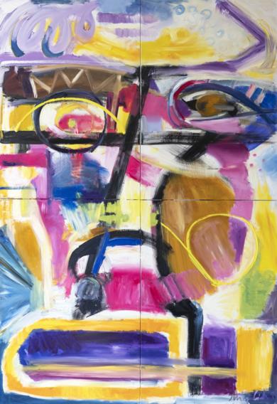 II Arquetipo de retrato, abstracción 07 2019 gran formato|PinturadeMaciej Cieśla| Compra arte en Flecha.es