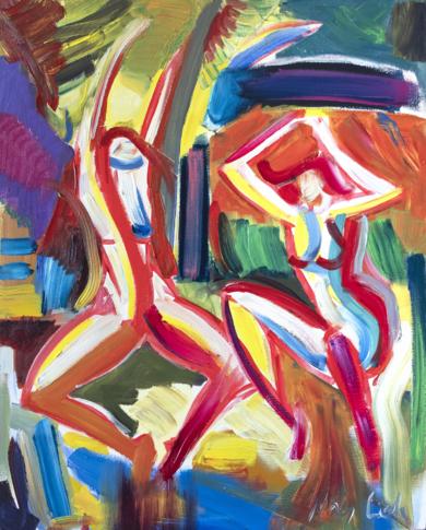 Bailes salvajes. Expresión en especie|PinturadeMaciej Cieśla| Compra arte en Flecha.es