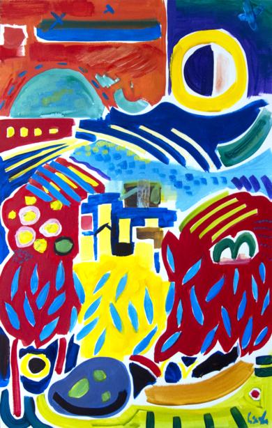 forma y color 07 2019 vides y aceitunas|PinturadeMaciej Cieśla| Compra arte en Flecha.es