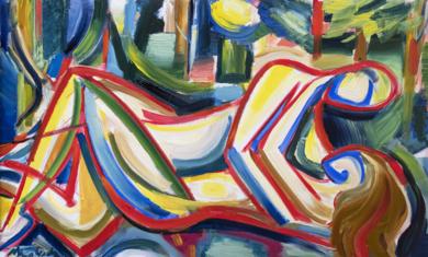 Amantes en la naturaleza|PinturadeMaciej Cieśla| Compra arte en Flecha.es