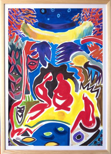 Personas y naturaleza, abstracción|PinturadeMaciej Cieśla| Compra arte en Flecha.es