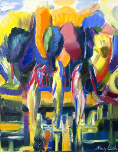 Mujeres en el río|PinturadeMaciej Cieśla| Compra arte en Flecha.es