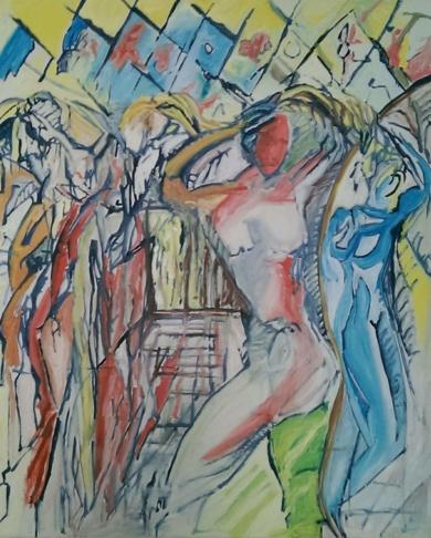 Tanz Haar kämmend|PinturadeGabriel José Vale| Compra arte en Flecha.es