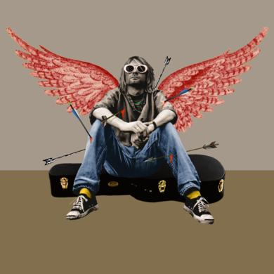 Kurt Cobain|CollagedeGabriel Aranguren| Compra arte en Flecha.es