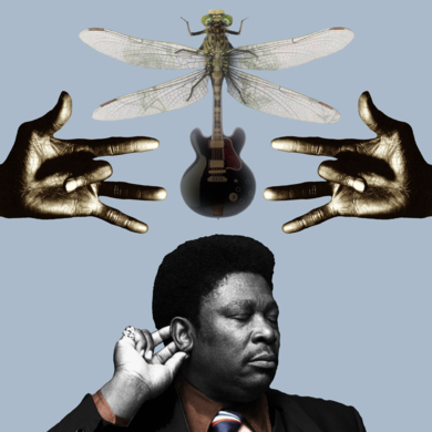 B B King|CollagedeGabriel Aranguren| Compra arte en Flecha.es
