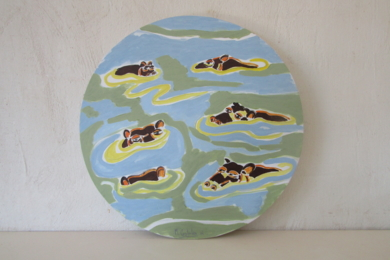 Hippos|PinturadeMiguel Costales| Compra arte en Flecha.es