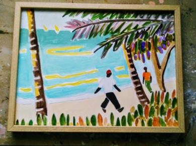 Oceano Índico/papel 2|PinturadeMiguel Costales| Compra arte en Flecha.es