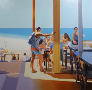 terraza en la playa|PinturadeJose Belloso| Compra arte en Flecha.es