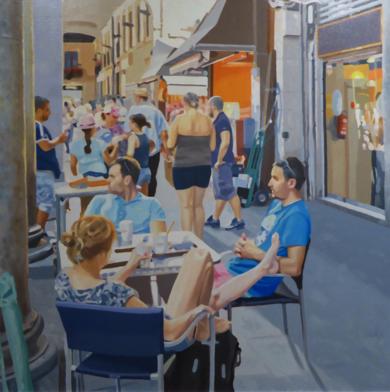 terraza en la boquería|PinturadeJose Belloso| Compra arte en Flecha.es