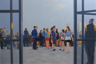 terraza en N.Y.|PinturadeJose Belloso| Compra arte en Flecha.es