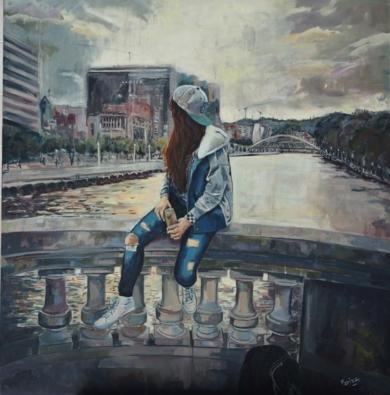 Bilbao City|PinturadeAmaya Fernández Fariza| Compra arte en Flecha.es