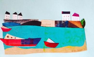 Mediterráneo|CollagedeANALIA MALOSETTI| Compra arte en Flecha.es