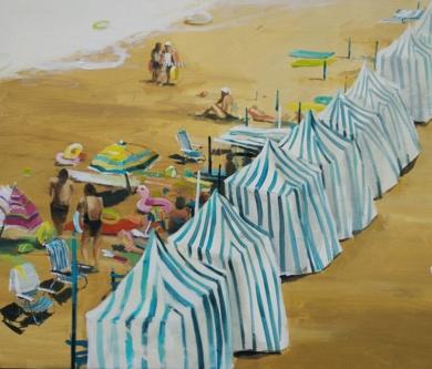 Zarautz.|PinturadeLeticia Gaspar| Compra arte en Flecha.es