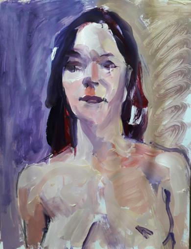 DESNUDO VIOLETA I|PinturadeFRANCISCO ALARCÓN| Compra arte en Flecha.es