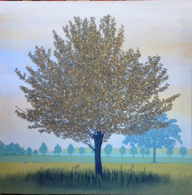 Árbol y alameda|PinturadeCharlotte Adde| Compra arte en Flecha.es