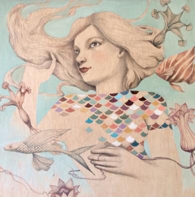 Mar habitado|DibujodeMenchu Uroz| Compra arte en Flecha.es