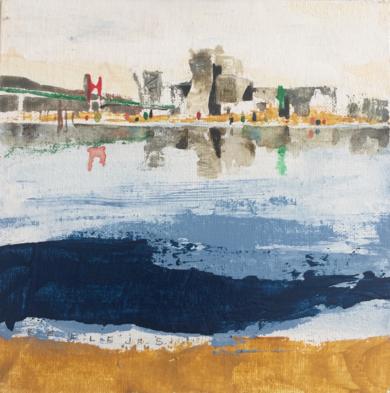Reflejos urbanos I|PinturadeMenchu Uroz| Compra arte en Flecha.es