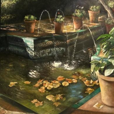 Jardín andaluz de la Casa de Sorolla|PinturadeTOMAS CASTAÑO| Compra arte en Flecha.es