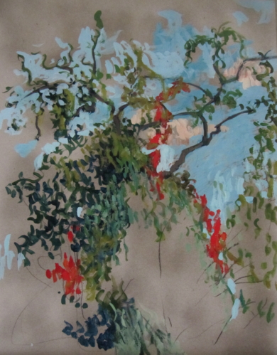 Rama herida|PinturadeSara Chamón| Compra arte en Flecha.es