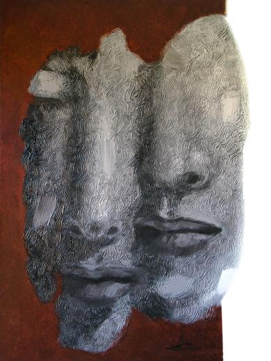 Pareja en gris|PinturadeJuan Chamizo| Compra arte en Flecha.es
