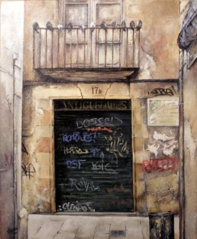 Barrio Gótico-Barcelona|PinturadeTOMAS CASTAÑO| Compra arte en Flecha.es