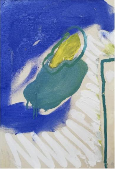 Azul y líneas blancas|CollagedeCecilia Sebastian| Compra arte en Flecha.es