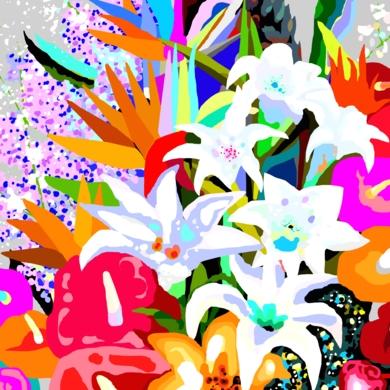 Flores III-C|DibujodeALEJOS| Compra arte en Flecha.es