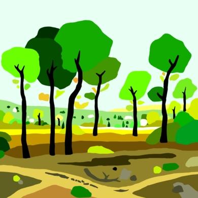 el pinar|DibujodeALEJOS| Compra arte en Flecha.es