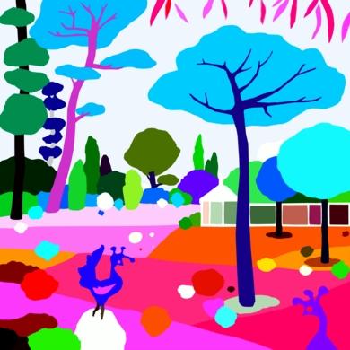 Parque Marechal Carmon|DibujodeALEJOS| Compra arte en Flecha.es
