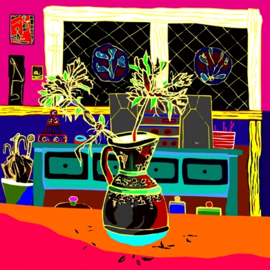 La pequeña jarra|DibujodeALEJOS| Compra arte en Flecha.es