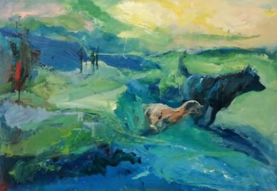 Campo a través|PinturadePilar Álvarez| Compra arte en Flecha.es