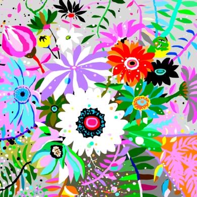 Flores para María|DigitaldeALEJOS| Compra arte en Flecha.es
