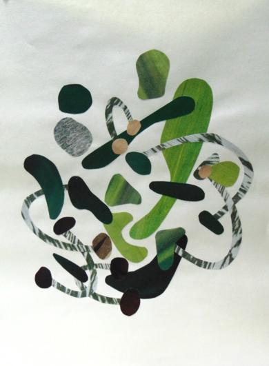 Verde #1|CollagedeFabiana Zapata| Compra arte en Flecha.es