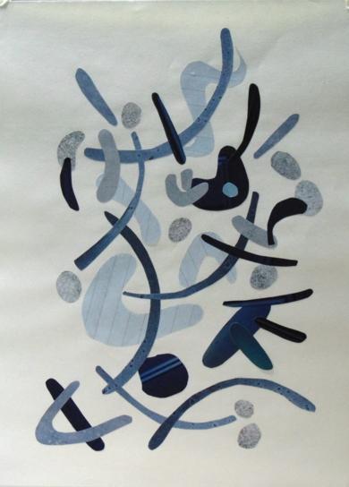Mapografia indigo|CollagedeFabiana Zapata| Compra arte en Flecha.es