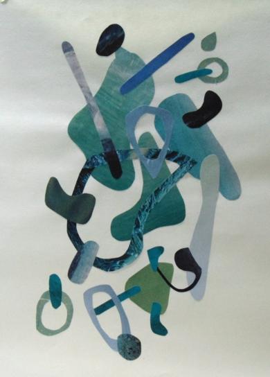 Mapografia laguna|CollagedeFabiana Zapata| Compra arte en Flecha.es