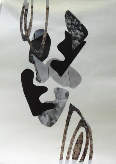 Mapografia b/n|CollagedeFabiana Zapata| Compra arte en Flecha.es