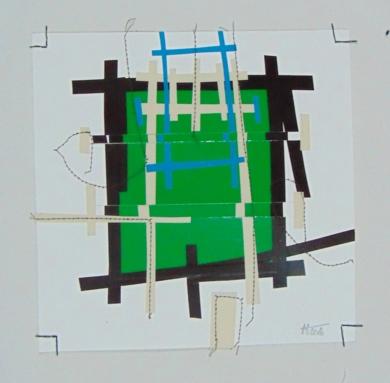 No pixel bosque|CollagedeFabiana Zapata| Compra arte en Flecha.es