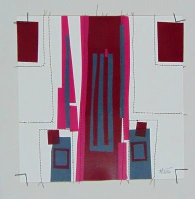 No pixel vino tinto|CollagedeFabiana Zapata| Compra arte en Flecha.es