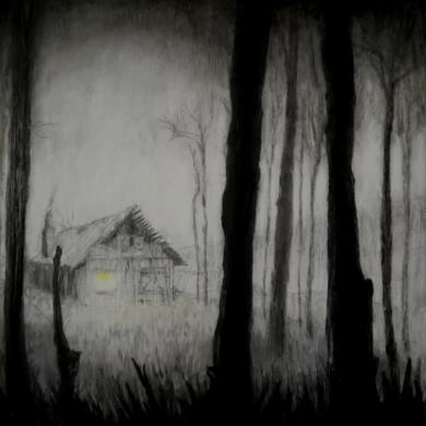 La cabaña en la niebla.|DibujodeRosario Rodriguez| Compra arte en Flecha.es