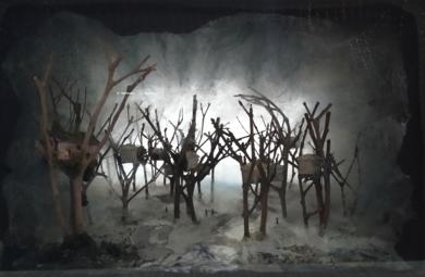 Caja de las casas en los arboles.|CollagedeRosario Rodriguez| Compra arte en Flecha.es
