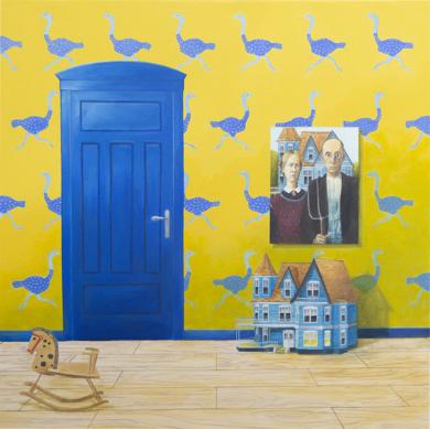 La Habitación Amarilla de Gótico Estadounidense|PinturadeRosa Alamo| Compra arte en Flecha.es