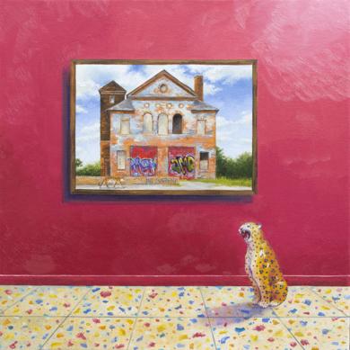 El Tigre y El Leopardo|PinturadeRosa Alamo| Compra arte en Flecha.es