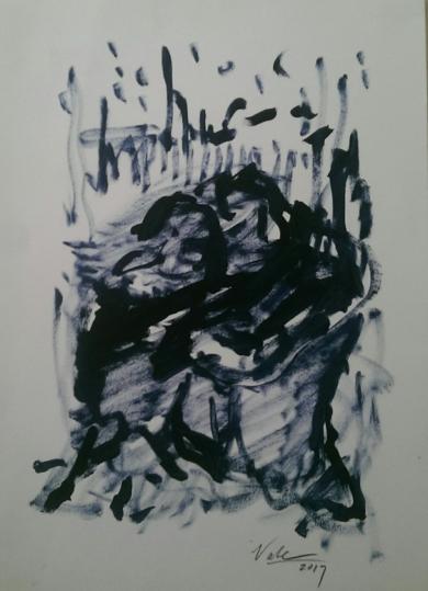 El Beso|PinturadeGabriel José Vale| Compra arte en Flecha.es