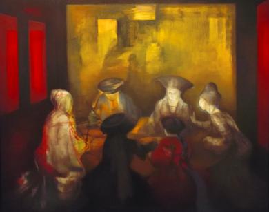 Conspiración|PinturadeVerónica Bustamante Loring| Compra arte en Flecha.es
