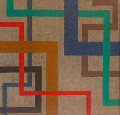 Cromatismo geométrico V|PinturadeVerónica Bustamante Loring| Compra arte en Flecha.es