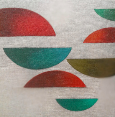 Cromatismo geométrico VII|PinturadeVerónica Bustamante Loring| Compra arte en Flecha.es