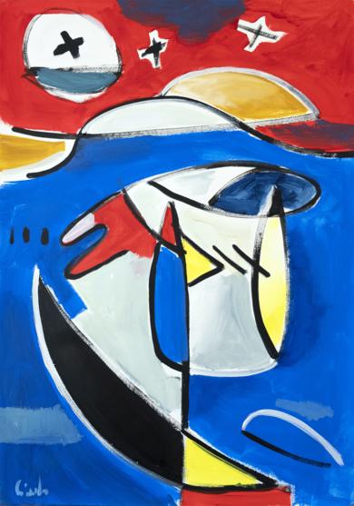 Abstracción, forma y color 12 2019 PinturadeMaciej Cieśla  Compra arte en Flecha.es
