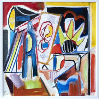artista en el estudio|PinturadeMaciej Cieśla| Compra arte en Flecha.es