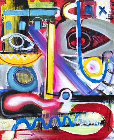 retrato abstracto Ciesla 2019|PinturadeMaciej Cieśla| Compra arte en Flecha.es