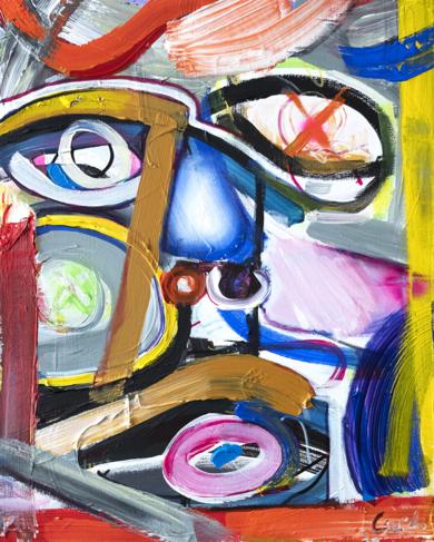 retrato abstracto self portrait archetype|PinturadeMaciej Cieśla| Compra arte en Flecha.es